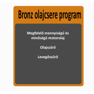 Bronz olajcsere program