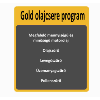 Gold olajcsere program